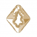 Swarovski Anhänger 6926 Growing Crystal Rhombus 36 mm Crystal Golden Shadow