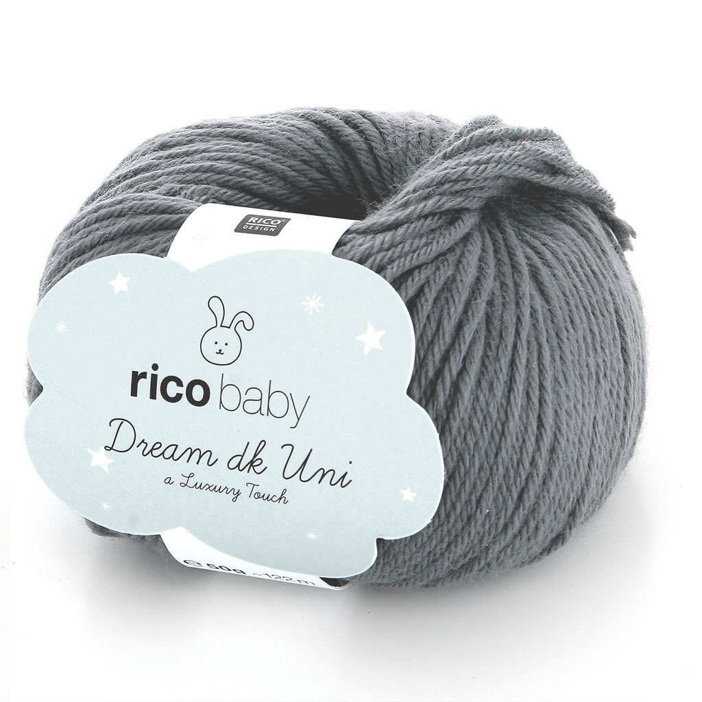 Rico Baby Wolle.Wolle Rico Baby Dream Dk Uni Luxury Touch Luxury Touch Anthracite N 006 X 50g