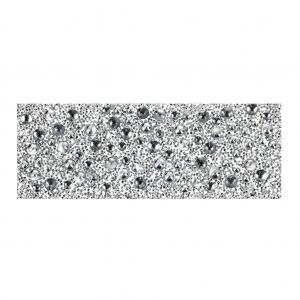 Armband Basis 15cm Rhodium Farbe für 1088 Chaton 6.2mm Kristalle Messing