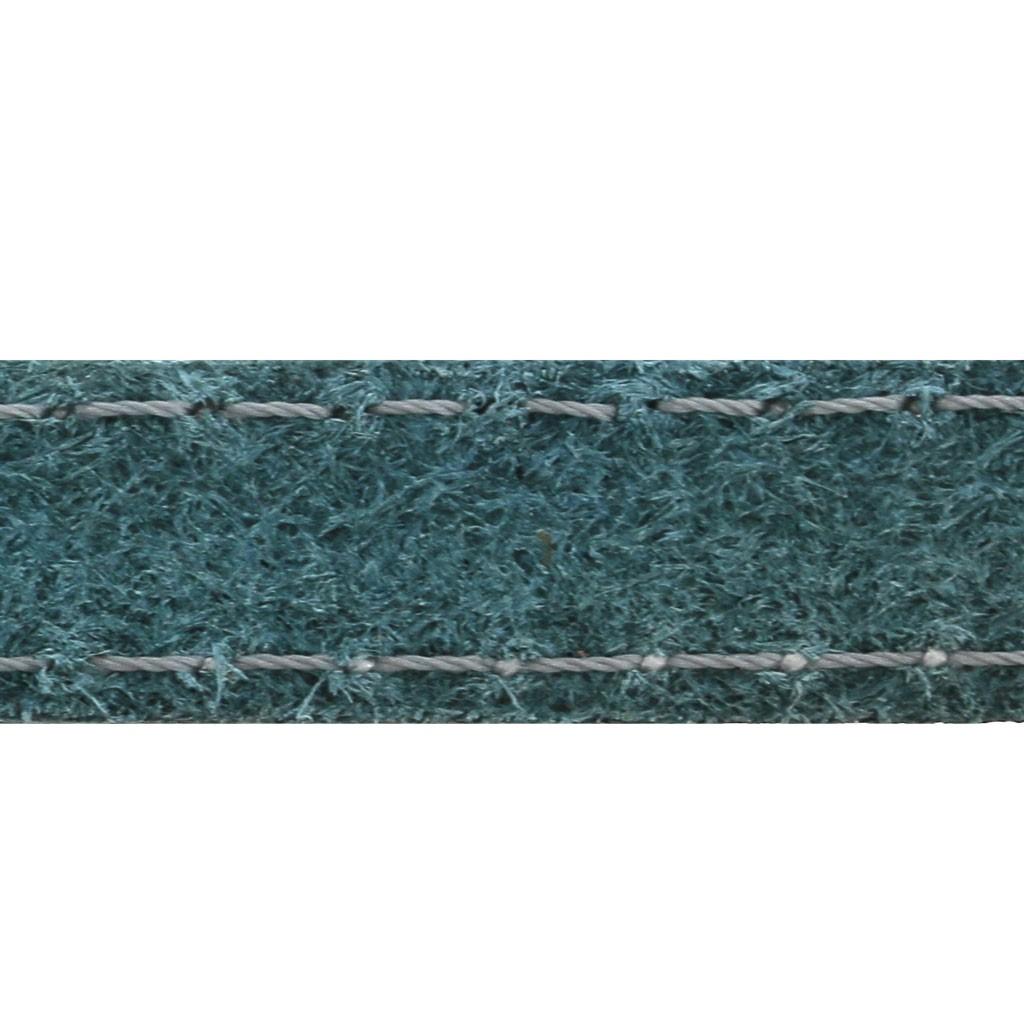 1m Imitat Wildlederband blau Nieten silber 10 x 2 m schmuckband