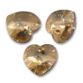 Swarovski 6228 Herz Crystal Golden Shadow 10,3x10mm x6