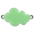 Wolke mit Kaltemaille 26x15mm Dark green water x6