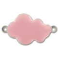 Wolke mit Kaltemaille 26x15mm Light Rose x6