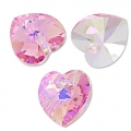 Swarovski 6228 Herz Light Rose AB 10,3x10mm x6