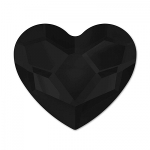 Strass Hotfix  Heart Swarovski 2808 6mm Jet  x1