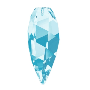 Twisted Drop Swarovski 6540 30 mm Aquamarine x1