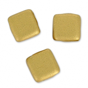 Tila beads 6 mm Metallic Golden Matt x50