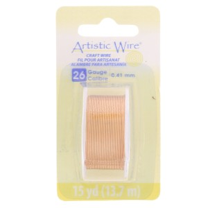 Messing Draht Artistic Wire 0.41 mm Messing Rand anti-tarnish x13.7m
