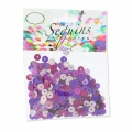 Sortiment mit Pailletten 6mm Violet Mix x10g