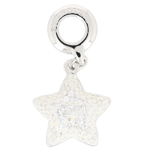 Swarovski 86512 Pavé Charm 14 mm White Opal/Crystal Moonlight x1