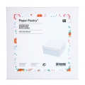 Quadratische Karton Box Paper Poetry 140x70mm Romantic Flowers Blanc x