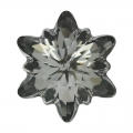Cabochon Swarovski 4753 Edelweiss 14mm Crystal Silver Night x1