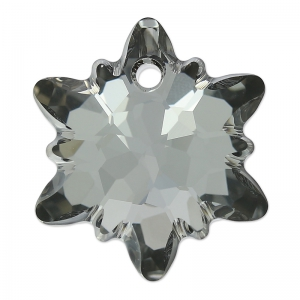 Swarovski Edelweiss 6748 18mm Crystal Silver Night x1