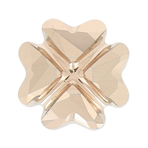 Cabochon Swarovski 4785 Clover 14mm Crystal Rose Gold x1
