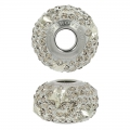 Swarovski 81712 BeCharmed Pavé 14 mm Crystal Silver Shade/Greige x1