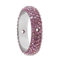 Swarovski 2 Bohrungen 185001 Pavé Ring 16.5 mm Crystal Lilac Shadow x1
