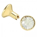 Swarovski Rivet 53001 7mm Crystal Silver Shade/goldfarben x1