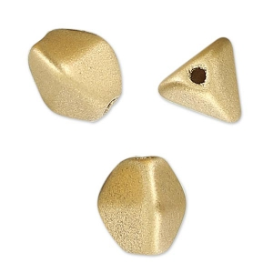 Pinch Beads 7 mm Gold Mat x25