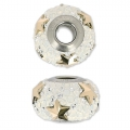 Swarovski 81712 BeCharmed Pavé 14 mm Crystal Rose Gold/ White Opal x1