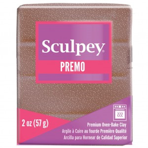 Premo Polyclay Accents 57gr Rose Gold Glitter (n°5135)