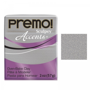 Premo Polyclay Accents 57gr White Gold Glitter (n°5132)