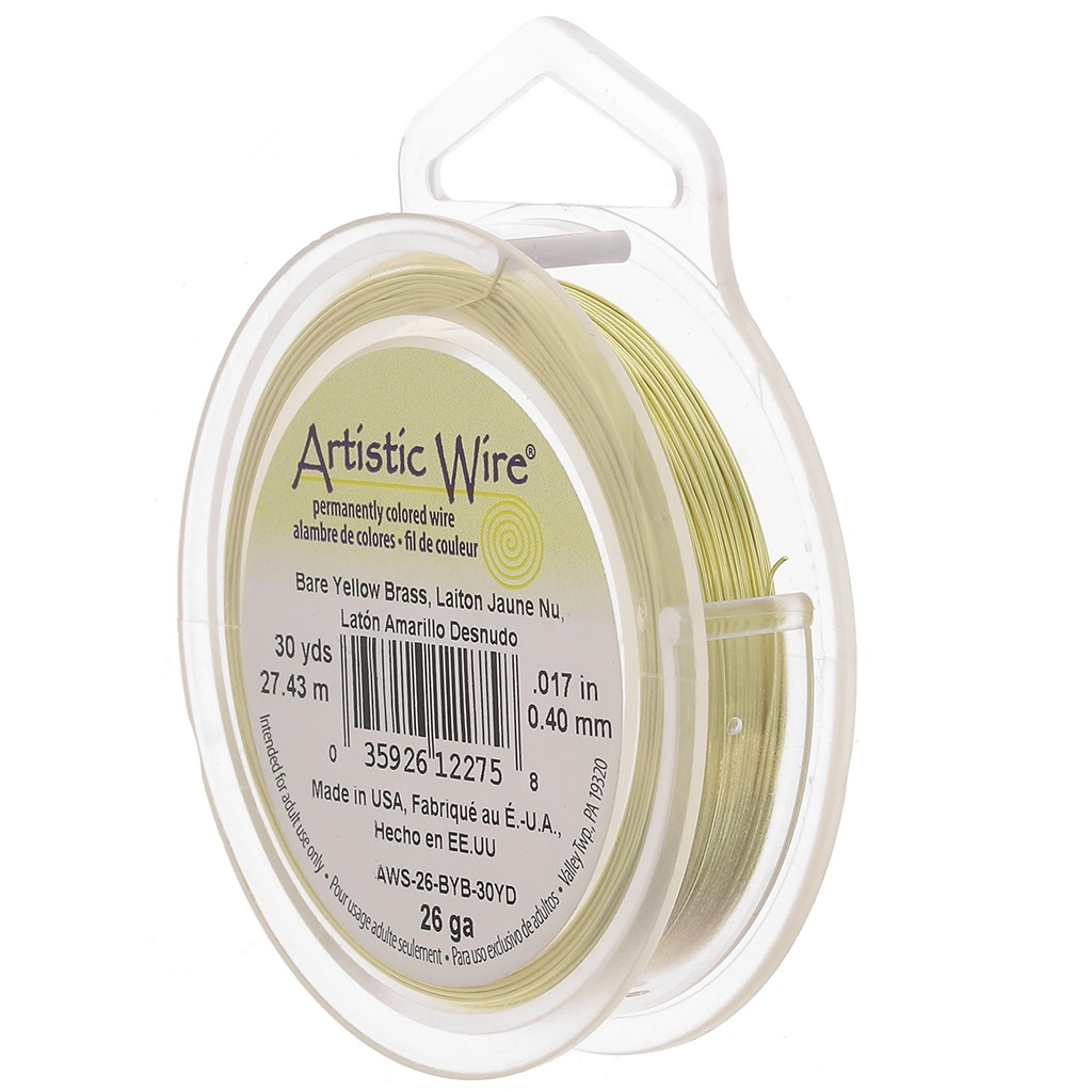 Messingdraht Artistic Wire 0,41 mm col Jaune nu x13,7m - Artistic ...