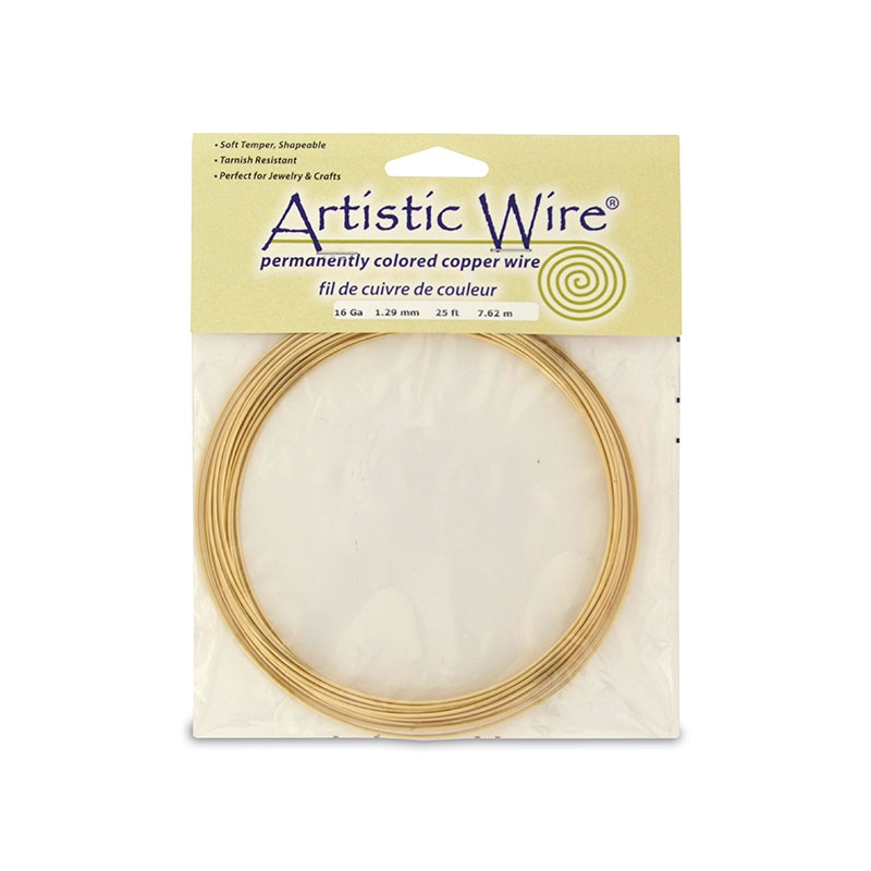 Messingdraht Artistic Wire 1.3mm Roh x 7.6m - Artistic Wire - Perles ...