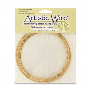 Messingdraht Artistic Wire 1.3mm Roh x 7.6m