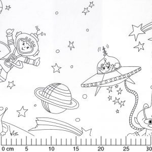 Gewebe Color Me - Space Adventures White x60cm