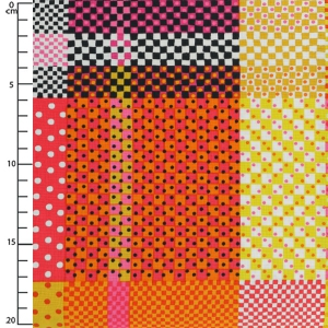 Baumwollgewebe Breezy Blooms - Multi Check Dot Plaid x10cm