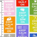 Baumwollegewebe Stitch - Multi Keep Calm x10cm