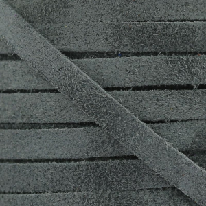 Lederband Imitat Suede 5 mm Grey Anthracite x50cm