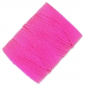 C-Lon Faden Beading Cord 0,50 mm Fluo Hot Pink x 82 m