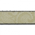 Flaches Lederband Paisley Muster 10 mm Greige x50cm