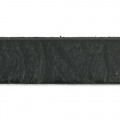 Flaches Lederband Paisley Muster 10 mm schwarz x50cm