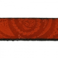 Flaches Lederband Paisley Muster 10 mm Rot x50cm