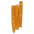 Armband Rohling aus Leder 10 mm Orange x 40 cm