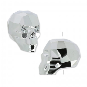 Totenkopf Swarovski 5750 13 mm Crystal Light Chrome 2X x1
