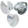 Swarovski 6228 Herz 10,3x10mm Crystal Light Chrome x6