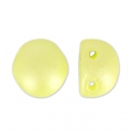 Cabochon Perle 2 Löcher 6 mm Pastel Yellow Pearl x20