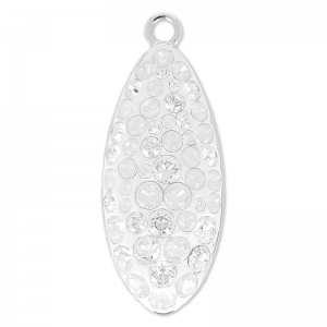 Pavé Anhänger Swarovski 67492 20 mm Crystal Moonlight/White Opal x1
