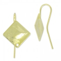 Ohrhaken Rhombus 16mm light gold x2