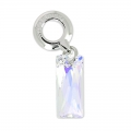 Queen Baguette Charm Swarovski 87007 13.5 mm Crystal AB x1