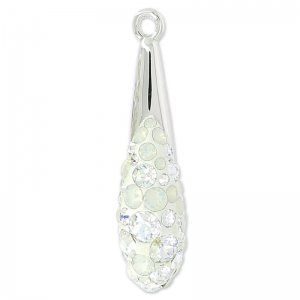 Pavé Anhänger Swarovski 67452 20 mm Crystal Moonlight/White Opal x1