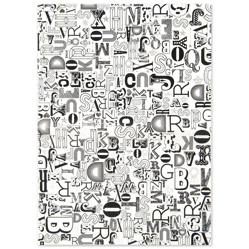 Paper Patch Buchstaben 42x30 cm schwarz/silberfarben x1 Blatt - Ri ...