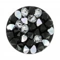 Crystal Rocks Rund Swarovski 340081 15 mm Jet/Crystal CAL x1