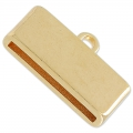 Endkappe für flaches Band 20mm 23x13 mm rose goldfarben x1