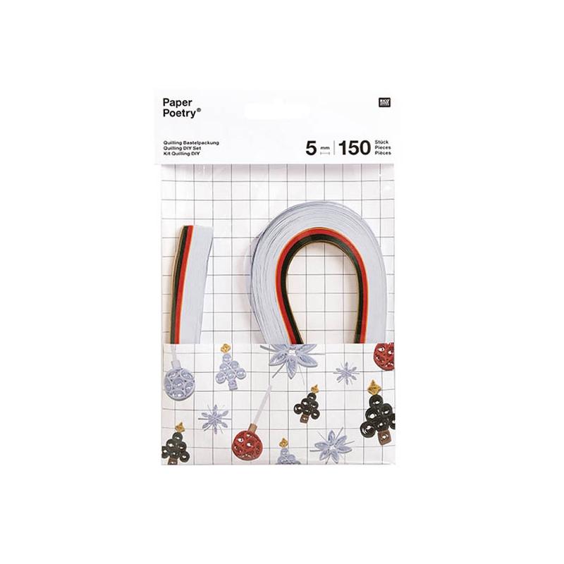 Set Mit Papierbändern Für Quilling Paper Poetry 5mm Weiße