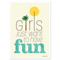 Postkarte Fifi Mandirac 15x10.5 cm Girls Just Want To Have Fun x1