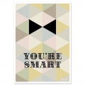 Postkarte Fifi Mandirac 15x10.5 cm You're Smart x1